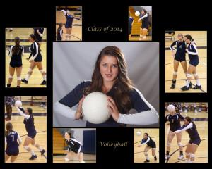 volleyball, high school senior, collage, Denver senior portrait photographers