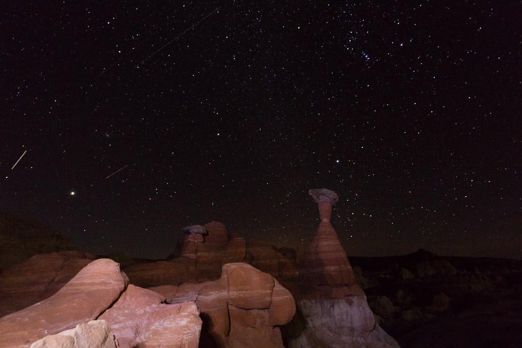 toadstool, utah, astrophotography, night sky