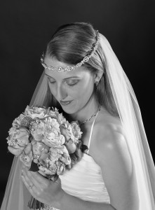 Denver Wedding Photographers, bridal portrait, black and white