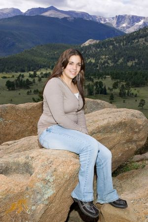 Alanna Senior Portrait, Rocky Mountain National Park