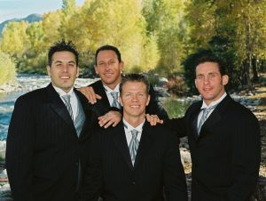 Groom and Groomsmen,  Roaring Fork Club