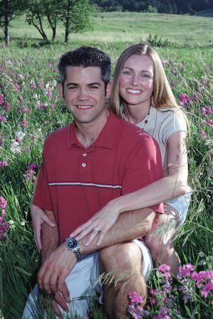 engagement photo Chatauquah Boulder