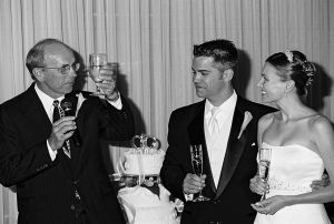 Father Toasting Bride and Groom, Stonebrook Manor